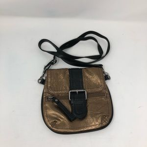 Women's Tano metallic and black crossbody Bag
